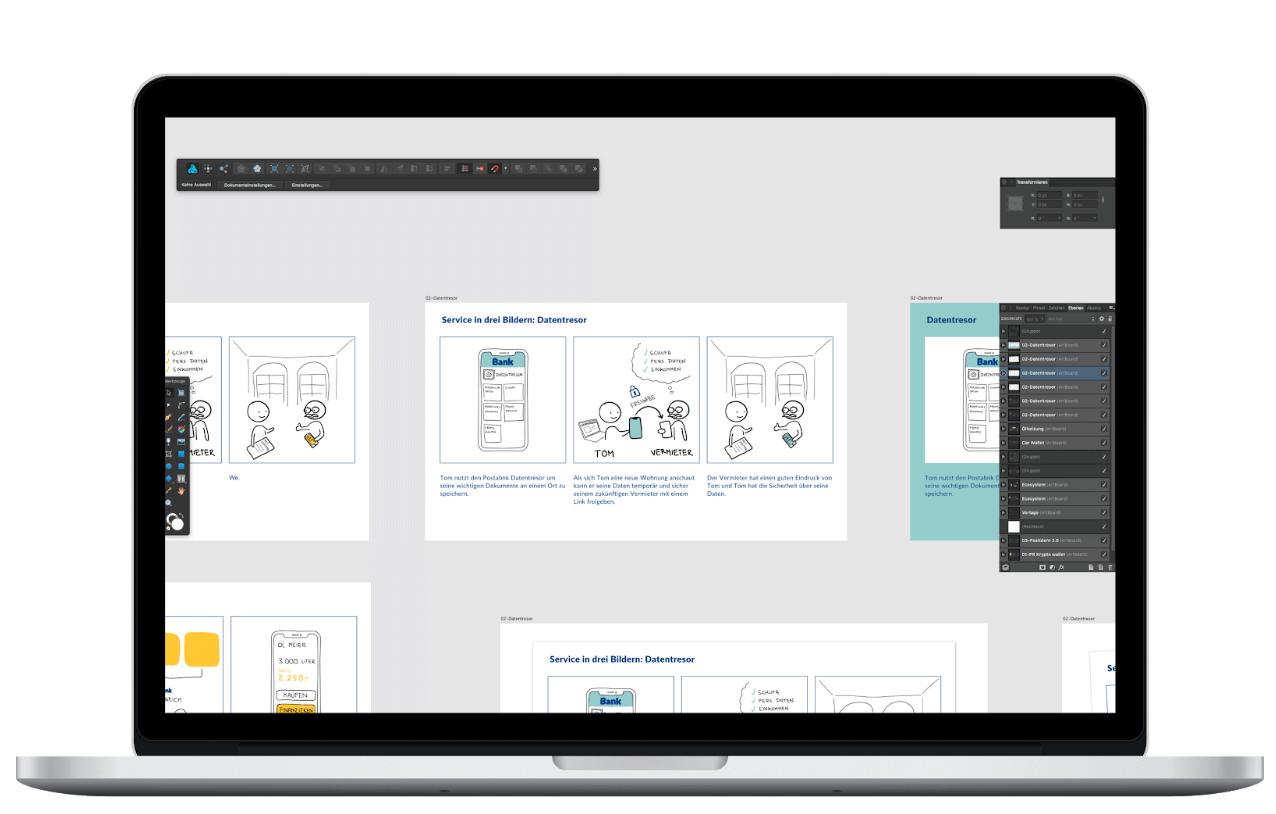 Ein Beispiel für Design Sprint Methoden - Design Review